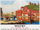 TU2 Vintage Whitby Yorkshire LNER Railway Travel Poster Re-Print A3 A2