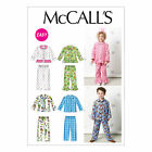 McCall's 6458 Cute Infant & Childrens' Pyjamas Sewing Pattern