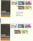 GB FDC 1969 ANNIVERSARIES..VARIOUS COVERS/POSTMARKS