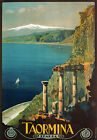 TW12 Vintage 1927 Taormina Sicily Italian Italy Travel Poster Re-Print A1 A2 A3