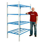 Tubular 4 Level Heavy Duty Steel Racking System - 2000mm High Shelving Box