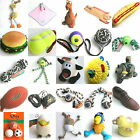 Pet Dog Toys. Rubber Plush Squeaky Tugger Chew Balls Rope