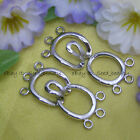 3 Strands White Cute Gold Plated Toggle Clasp Jewelry Making Craft Design