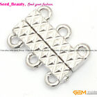 3 Strands White Gold Plated Magnet Clasp gp0381
