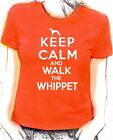 'Keep Calm and Walk the Whippet'  lady fit t-shirt