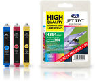 3 Jettec Remanufactured HP 364 C/M/Y Ink Cartridges for Photosmart D5460 & more