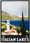 T11 Vintage 1930's Italian Lakes Italy Travel Poster Re-Print A4