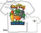 Surf Day, Race All Night Rat Fink T shirt Big Daddy Clothing, Sz M L XL 2XL 3XL