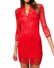 RED FLORAL LACE  LACE DRESS JOHN ZACK SCOLLOP NECK