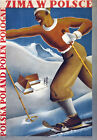TW51 Vintage Winter In Poland Polish Skiing Travel Poster Re-Print A2/A3