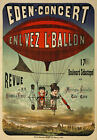 AV51 Vintage 1884 French Circus Balloon Advertisement Poster Re-Print A1/A2/A3