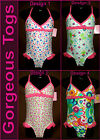 GIRLS TOGS - Sz 2 3 4 or 5 - ADORABLE 1 pc SWIMWEAR BATHERS -Bright & Pink - NEW