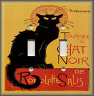 Metal Art Light Switch Plate Cover - Black Cat French Chat Noir Home Decor Cat