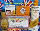 Glutathione Capsules Pills +Papaya skin Whitening LOTION CREAM KOJIC SOAP GEL