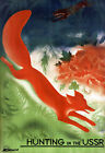 T72 Vintage Hunting In The USSR Russian Soviet Travel Poster Re-Print A4