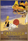 TW91 Vintage Italy Cattolica Adriatico Italian Travel Poster A1/A2/A3