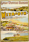 TR83 Vintage Weymouth Naples Of England GWR Railway Poster Re-Print A4