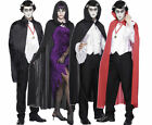 MENS / WOMENS HALLOWEEN FANCY DRESS COSTUME CAPES -VAMPIRE DEVIL WITCH FAIRYTALE