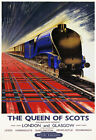 TR92 Vintage British Railways The Queen Of Scots Travel Poster Re-print A4