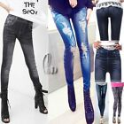 AU SELLER Sexy Denim Jeans Look Tights Skinny pants SZ XS-L/AU6-12 p022