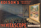 AD14 Vintage 1896 Edison's Marvel Vitascope Advertisment Poster A1 A2 A3