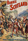 TH89 Vintage Bonnie Scotland Drama Theatre Poster Re-Print A1 A2 A3