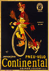 AD27 Vintage 1900 Continental Bicycle Tires Advertisment Poster A1 A2 A3