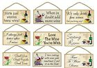 Decorative Wood Plaque-Sign-In fun WINE Designs-your choice of Saying