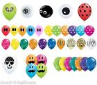 """10 Qualatex 5"""" Small Latex Party Balloons - Many Designs Available Air Fill Only"""