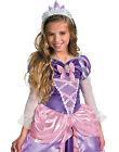 Disney Princess Tangled Rapunzel Shimmer Deluxe Child Halloween Costume XS-M