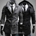 Noble men fashion casual jacket coat (removable hat)