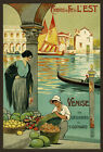 TT61 Vintage Venice French Railway Travel Poster Re-Print A4