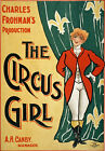 TZ2 Vintage The Circus Girl Theatre Advertisement Poster Re-Print A4