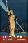 TX120 Vintage New York Wonder City America Travel Poster Re-Print A1/A2/A3