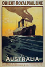 TX154 Vintage Orient Mail Line To Australia Cruise Shipping Travel Poster A4