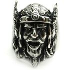Vintage Viking Warrier's Face 316L Stainless Steel Cool Men's Ring