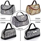 Leopard Zebra Pattern Cosmetic Make up Hand Bags Package Case Pouch