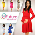 *HOT DEAL* Women's Maternity Dress Tunic Long Sleeve V-Neck Stretchy FT1101