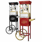 GNP Antique Style Popcorn Popper 8oz Machine w/Cart 8 Ounce Choose Red or Black!