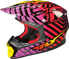 NEW FLY RACING THREE. 4 MX ATV WILD HELMET MENS ADULT BMX MOTOCROSS