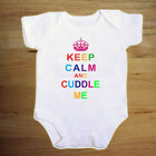 KEEP CALM AND CUDDLE ME FULL COLOUR  BABY VEST