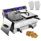 20L Commercial Deep Fryer w Timer and Drain Fast Food French Frys Electric