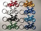 Bicycle Metal Bottle Opener Keyring Keychain - bike cycling *Choose Colour*
