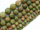 Natural Unakite Gemstone Round Loose Beads 16'' 2mm 3mm 4mm 6mm 8mm 10mm 12mm