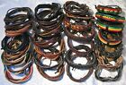 Leather Surfer Bracelet Wristband MENS BOYS LADIES cuff cord hippie boho ☆Choose