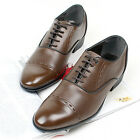 New Mens Stylish Dress Formal Casual Mens Oxford Shoes Brown