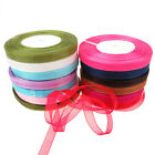 "Various Colours Of Sheer Organza Ribbon 50 Yard Rolls  - 10mm (3/8"") Width"