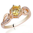 Gold Plated Sterling Silver Ring for Women Size 6 7 8 9 Engraving Supported