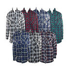 NEW MENS PADDED QUILTED LUMBERJACK CHECK FLANNEL WORK SHIRT WORKWEAR RRP £24.99