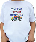 LITTLE BROTHER CAR CARRIER PERSONALIZED KIDS T-SHIRT